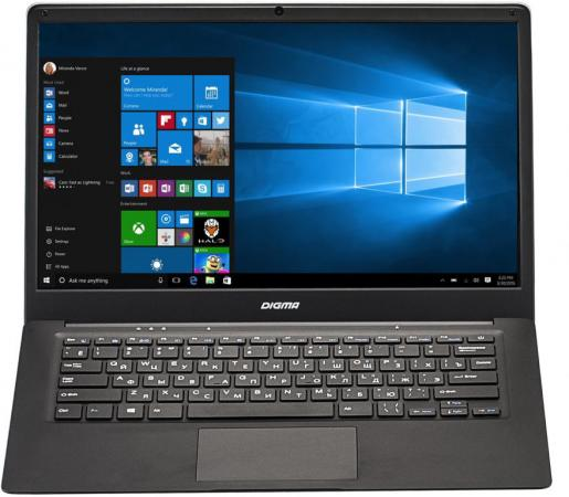 Ноутбук Digma EVE 1401 14.1 1366x768 Intel Atom-x5-Z8350 32 Gb 2Gb Intel HD Graphics 400 черный серебристый Windows 10 Home ET4012EW ноутбук digma citi e210 11 6 intel atom x5 z8350 1 44ггц 2гб 32гб ssd intel hd graphics 400 windows 10 home et2005ew черный