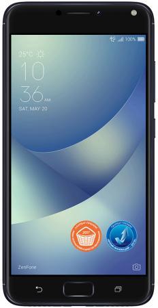 Смартфон ASUS ZenFone 4 Max ZC554KL черный 5.5 32 Гб LTE Wi-Fi GPS 3G 90AX00I1-M00080 смартфон asus zenfone 4 ze554kl черный 5 5 64 гб lte wi fi gps 3g 90az01k1 m01210