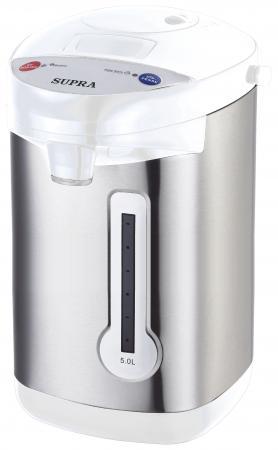 Термопот Supra TPS-3013 900 Вт серебристый белый 5 л нержавеющая сталь термопот supra tps 3001 800 вт белый рисунок 3 л пластик