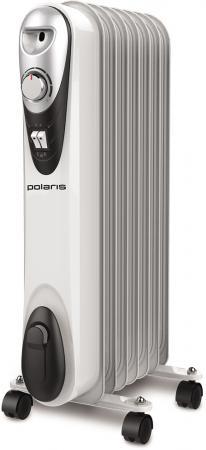 Масляный радиатор Polaris CR C 0715 1500 Вт белый чёрный инфракрасный обогреватель polaris pmh 1584 1500 вт термостат ручка для переноски чёрный