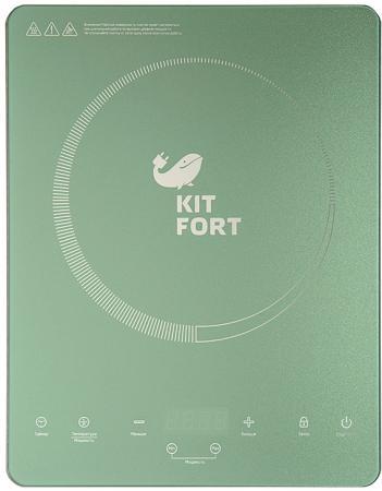 Индукционная элеKTроплитка KITFORT KT-110-3 бирюзовый цена