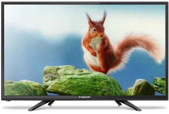 "Телевизор 24"" FUSION FLTV-24B100T черный 1366x768 50 Гц VGA HDMI USB"