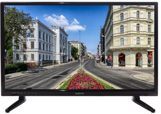Телевизор LED 24 Harper 24R470T черный 1366x768 HDMI USB VGA