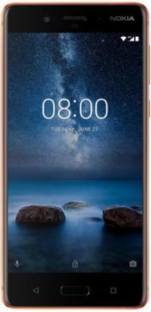Смартфон NOKIA 8 медный 5.3 64 Гб LTE Wi-Fi GPS 3G 4G 11NB1M01A08 смартфон micromax q334 canvas magnus черный 5 4 гб wi fi gps 3g