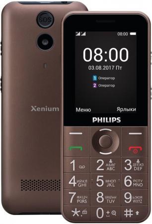 Телефон Philips Xenium E331 коричневый 2.4 32 Мб xenium