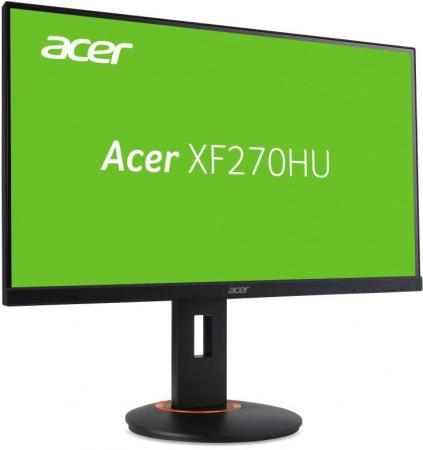 Фото - Монитор 27 Acer XF270HUAbmiidprzx черный IPS 2560x1440 300 cd/m^2 4 ms DVI HDMI DisplayPort UM.HX0EE.A02 монитор 27 acer cb271hkabmidprx черный ips 3840x2160 300 cd m^2 4 ms dvi hdmi displayport um hb1ee a05