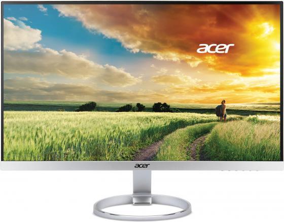 Фото - Монитор 25 Acer H257HUsmidpx серебристый черный IPS 2560x1440 350 cd/m^2 4 ms DVI HDMI DisplayPort UM.KH7EE.002 монитор 27 acer cb271hkabmidprx черный ips 3840x2160 300 cd m^2 4 ms dvi hdmi displayport um hb1ee a05