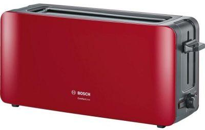 лучшая цена Тостер Bosch TAT6A004 красный