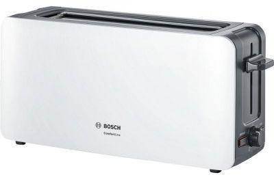 Тостер Bosch TAT6A001 белый верисел трейдинг ооо тостер bosch tat3a011 980вт белый