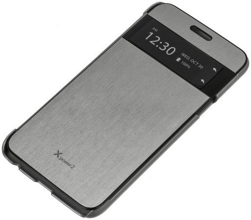 Чехол флип-кейс LG для LG X Power 2 M320 VOIA серебристый аксессуар чехол lg x power 2 m320 zibelino classico black zcl lg m320 blk