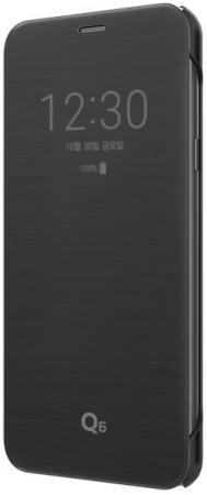 Чехол флип-кейс LG для LG Q6 M700 VOIA черный чехол флип кейс lg k350 voia для lg k8 черный