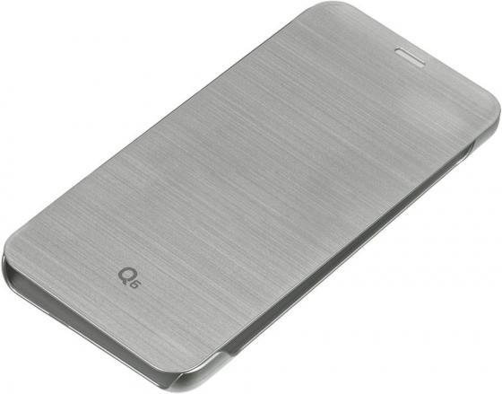 Чехол флип-кейс LG для LG Q6 M700 VOIA серебристый чехол флип кейс lg для lg g6 h870ds н870 voia черный