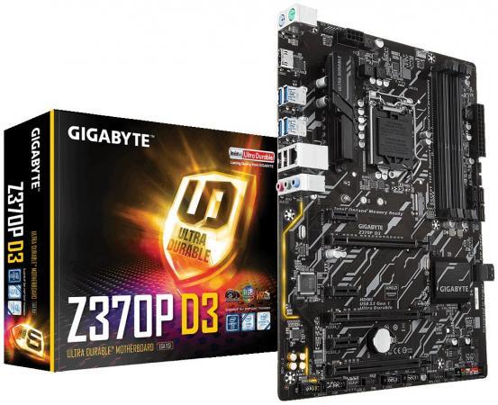 Материнская плата GigaByte Z370P D3 Socket 1151 v2 Z370 4xDDR4 3xPCI-E 16x 3xPCI-E 1x 6 ATX Retail цена и фото