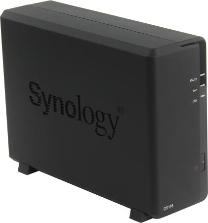 Сетевое хранилище Synology DS118 1x2,5 / 3,5 сетевое хранилище synology ds1517 5x2 5 3 5