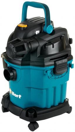Промышленный пылесос BORT BSS-1518-Pro сухая влажная уборка синий чёрный пылесос промышленный bort bss 1230