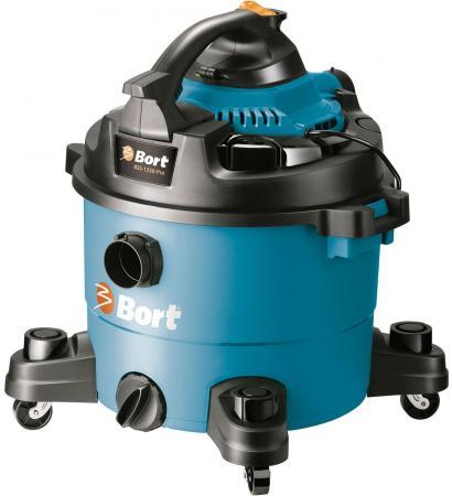 Промышленный пылесос BORT BSS-1330-Pro сухая влажная уборка синий чёрный bort bss 1230 98291070 пылесос промышленный silver black