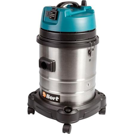 Промышленный пылесос BORT BSS-1440-Pro сухая влажная уборка серый пылесос промышленный bort bss 1230