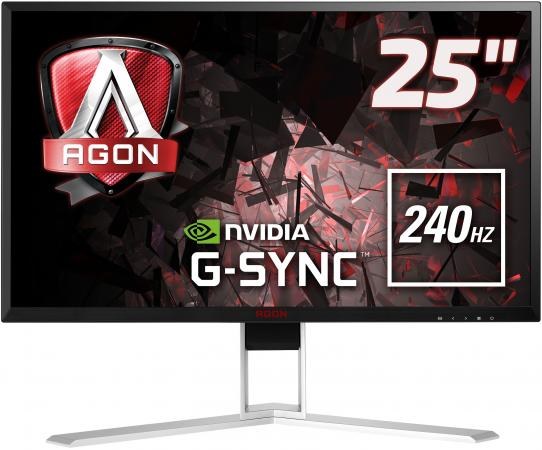 МОНИТОР 25 AOC AGON AG251FG Black-Red (LED, 1920x10800, 240Hz, 1 ms, 170°/160°, 400 cd/m, 50M:1, +HDMI, +DisplayPort) displayport 1 1 male to hdmi 1 3 female adapter w audio black