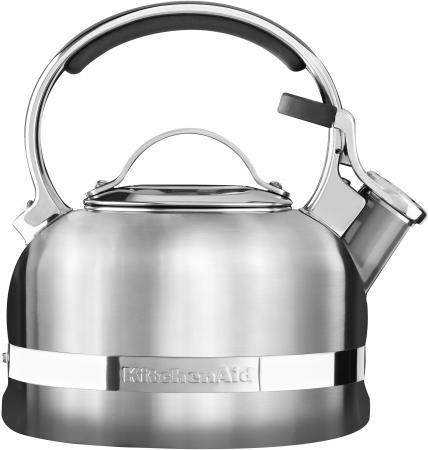 Чайник KitchenAid KTST20SBST серебристый 1.9 л нержавеющая сталь kitchenaid набор прямоугольных чаш для запекания 0 45 л 2 шт красные