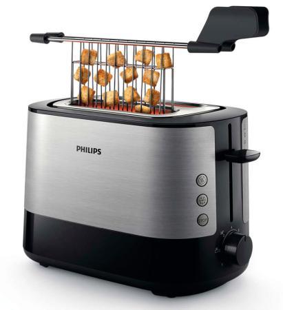 Тостер Philips HD2635/90 серебристый чёрный тостер philips hd2586 20 серебристый