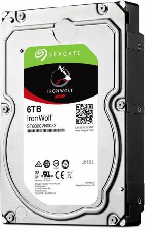 Жесткий диск 3.5 6 Tb 7200rpm 256Mb cache Seagate Ironwolf SATAIII ST6000VN0033 накопитель на жестком магнитном диске seagate жесткий диск hdd 8tb seagate ironwolf st8000vn0022 3 5 sata 6gb s 256mb 7200rpm