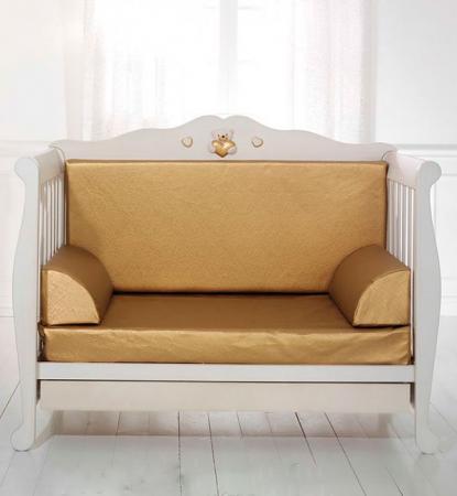Комплект мягких вставок для кроватки-дивана Baby Expert Elegance (золотой) цена