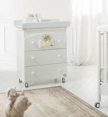 Пеленальный комод с ванночкой Baby Expert Trudino (белый) пеленальный комод с ванночкой baby expert bon bon duetto белый серый