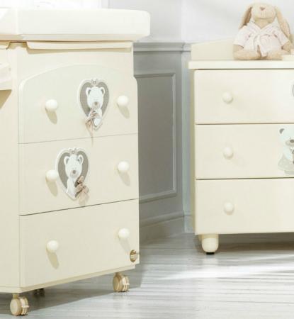 Пеленальный комод с ванночкой Baby Expert Bon Bon Duetto (кремовый) пеленальный комод с ванночкой baby expert bon bon duetto белый серый