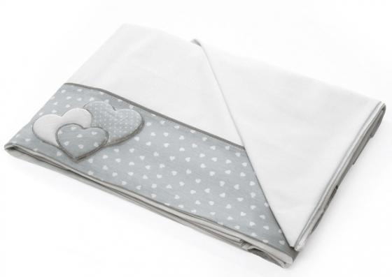 Сменное постельное белье 3 предмета Baby Expert Sogno (белый/серый)