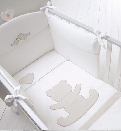 Комплект белья для детской кроватки Baby Expert Casetta (белый/крем) кровать baby expert кровать baby expert abbracci by trudi крем