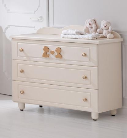 Комод бельевой Baby Expert Cuore di Mamma (крем/золото) кровать baby expert кровать baby expert abbracci by trudi крем