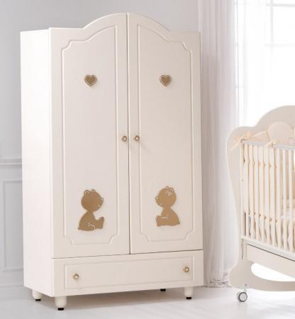 Шкаф двустворчатый Baby Expert Cuore di Mamma (крем/золото) roman baby панно на стену roman baby cuore di mamma арт 6008