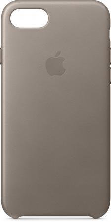 Фото - Накладка Apple Leather Case для iPhone 8 iPhone 7 платиново-серый MQH62ZM/A чехол apple leather case для iphone x платиново серый