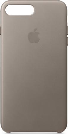 Накладка Apple Leather Case для iPhone 7 Plus iPhone 8 Plus платиново-серый MQHJ2ZM/A чехол для планшета apple leather case iphone 8 7 taupe платиново серый mqh62zm a