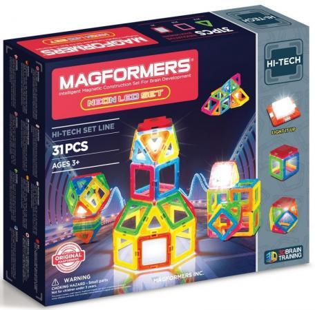 Магнитный конструктор Magformers Neon Led set 31 элемент 709007 конструктор magformers transform set
