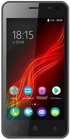 Смартфон BQ BQ-4500L Fox LTE черный 4.5 8 Гб LTE Wi-Fi GPS 3G BQS-4500L-BLK смартфон bqs 5055 turbo plus lte black