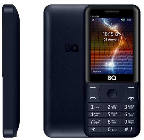 Мобильный телефон BQ BQ-2425 Charger синий 2.4 32 Мб BQM-2425-DBL мобильный телефон bq mobile bq 2425 charger black