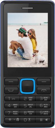 """Мобильный телефон Irbis SF12 голубой черный 2.4"""" 32 Мб мобильный телефон irbis sf12 голубой черный"""