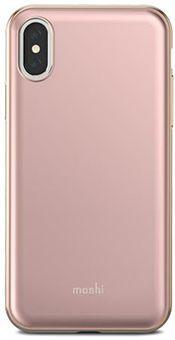 Чехол Moshi iGlaze для iPhone X. Сделан из ударопрочного пластика. Цвет: розовый. цена