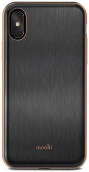 Чехол Moshi iGlaze для iPhone X. Сделан из ударопрочного пластика. Цвет: черный. цена и фото