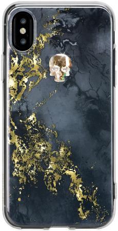 Накладка Bling My Thing Treasure Onyx. Gold Skull, с кристаллами Swarovski для iPhone X чёрный ipx-tr-bk-gld gullick men flat loafers gold crystal bling bling rhinestone leather dress shoes for mens slip on flats business shoes size 46