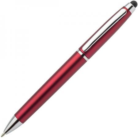 Шариковая ручка автоматическая Index IMWT1310/RD синий 1 мм со стилусом канцелярия index точилка автоматическая