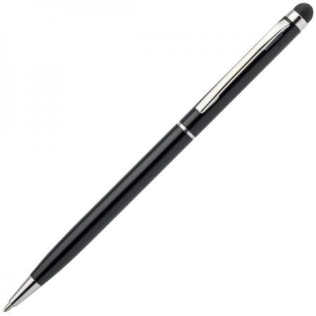 Шариковая ручка автоматическая Index IMWT1316/BK синий 1 мм со стилусом шариковая ручка автоматическая index imwt1313 bk синий 1 мм 5 в1