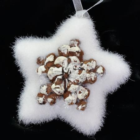 Украшение Winter Wings Лесная звезда 10 см 1 шт полимер цена и фото