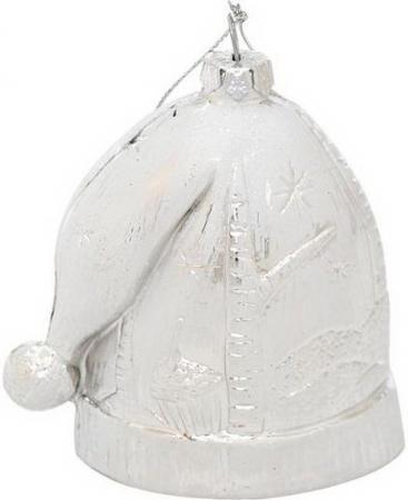 Елочные украшения Winter Wings Шапка новогодняя зимние узоры 8 см 1 шт белый пластик