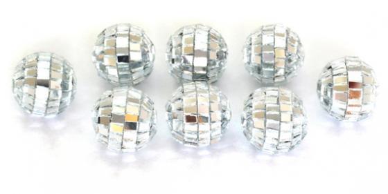 Елочные украшения Winter Wings Шары Зеркальные 2 см 20 шт серебро пластик N181080