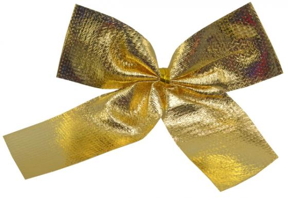 Елочные украшения Winter Wings Бантики 8 см 6 шт золотой текстиль