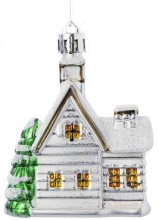 Елочные украшения Winter Wings Домик 7 см 4 шт белый елочные украшения русские подарки игрушка ёлочная домик