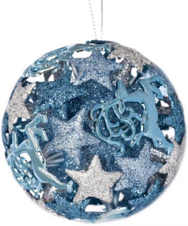 Елочные украшения Winter Wings Шар звездный олень 8 см 1 шт в ассортименте пластик N180108