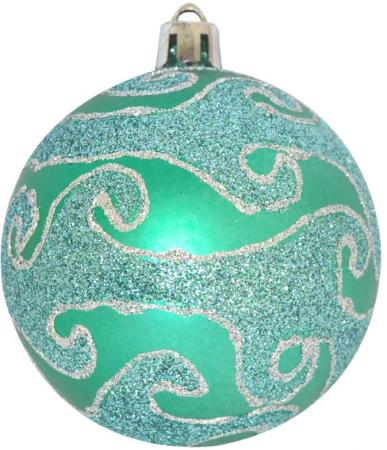 Набор шаров Winter Wings с блестящей крошкой, в связке 7 см 3 шт зеленый пластик N181149 цена и фото